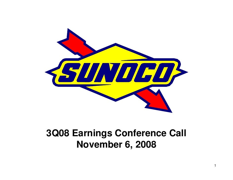 3Q08 Earnings Conference Call       November 6, 2008                                  1