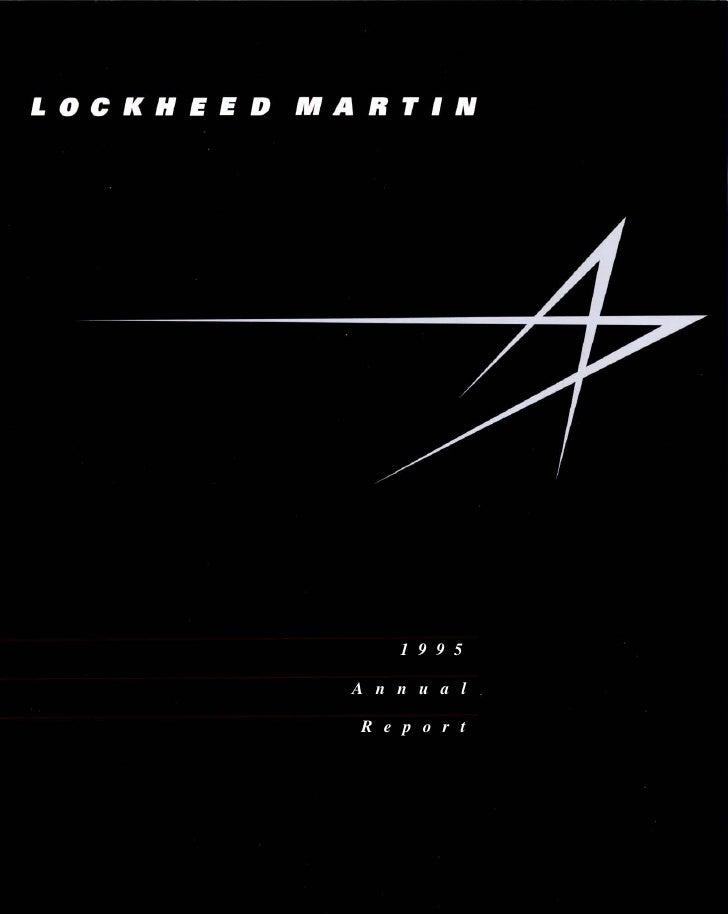 lockheed martin 1995 Annual Report
