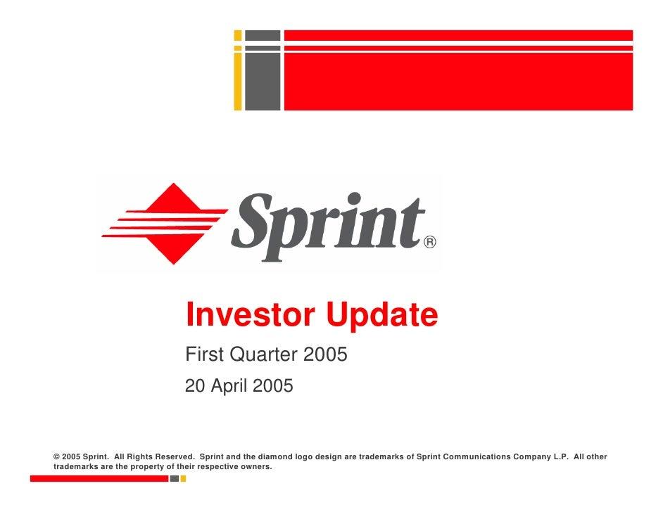 sprint nextel Quarterly Presentations 2005 1st