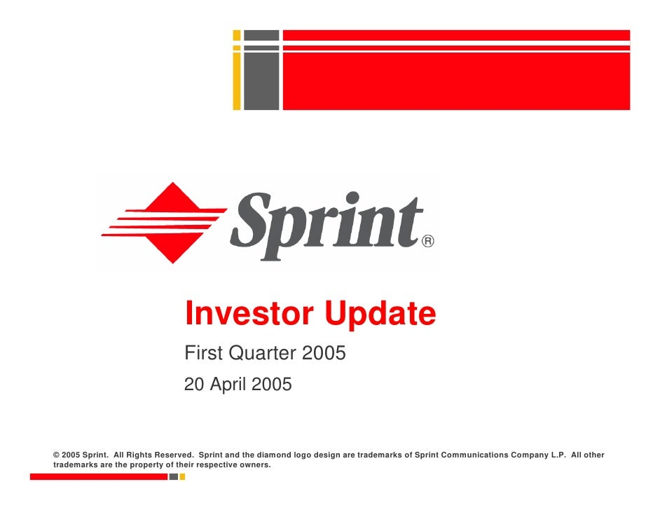 sprint nextel Quarterly Presentations 2005 1st