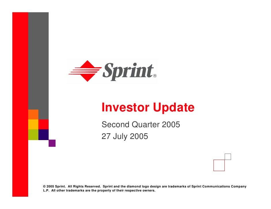 Investor Update                                  Second Quarter 2005                                  27 July 2005     © 2...