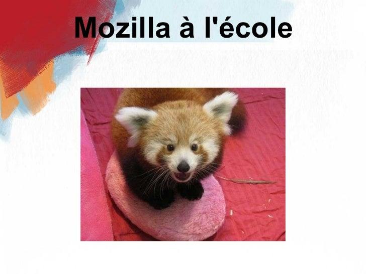 Mozilla à l'école