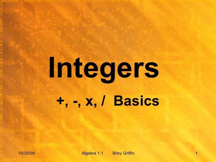 104 05 Integers Lesson