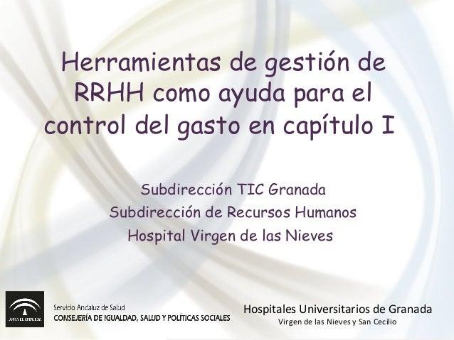 Herramientas de gestión de RRHH como ayuda para el control del gasto en capítulo I Subdirección TIC Granada Subdirección d...