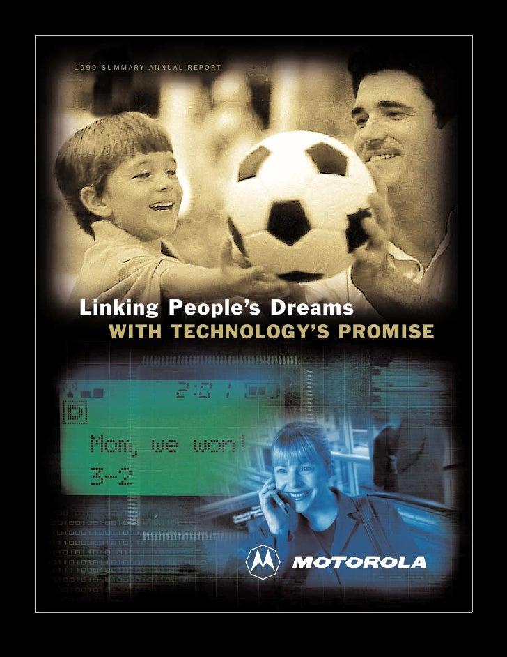 motorola 1999 Summary Annual Report