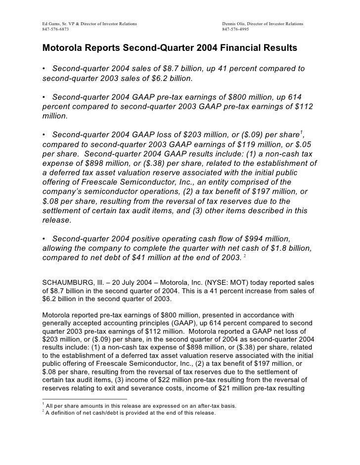 Q2 2004 Earnings Release