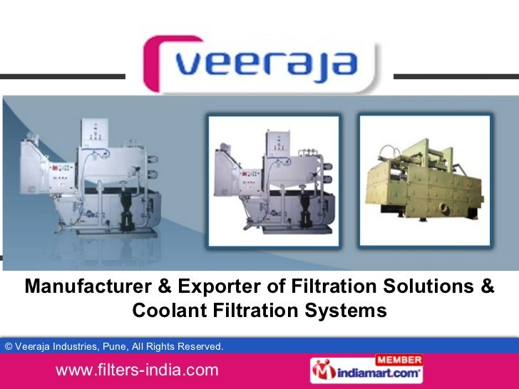 Manufacturer & Exporter of Filtration Solutions & Coolant Filtration Systems