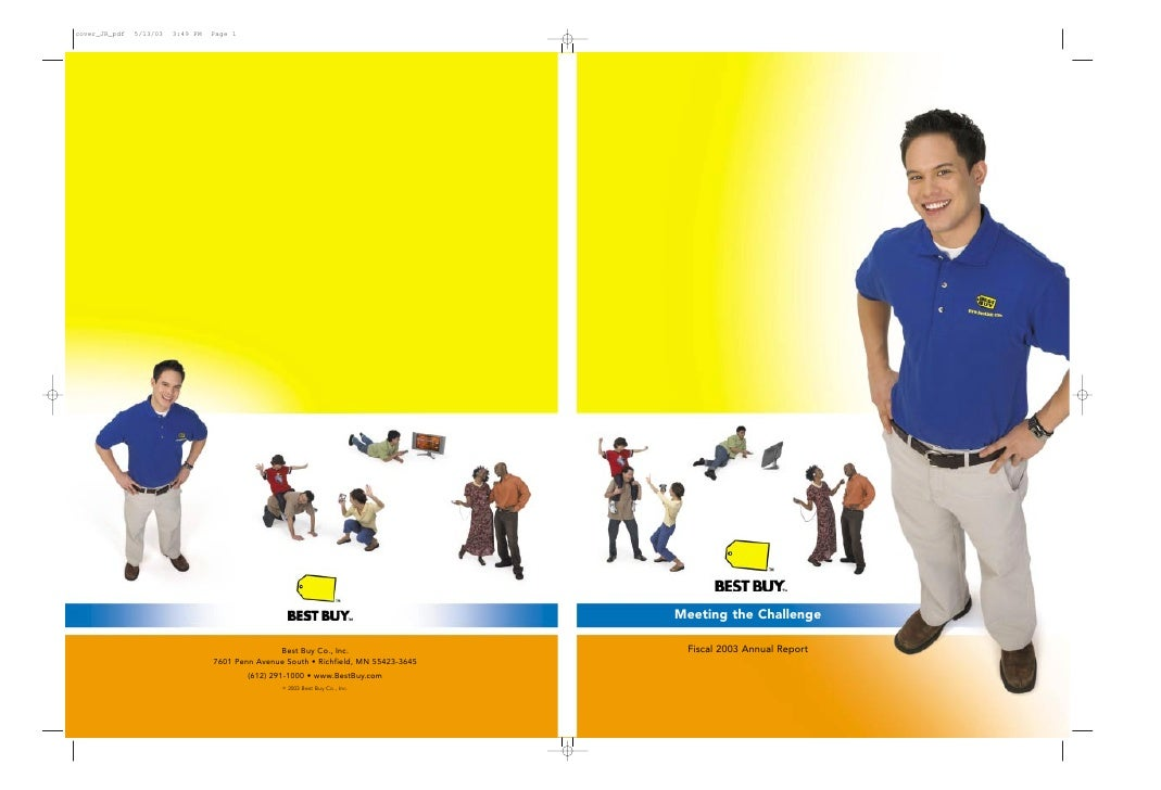 best buy 	FY '03 Annual Report