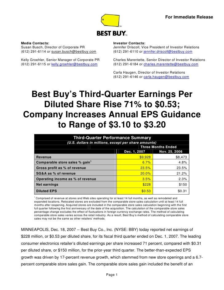 best buy Third Quarter 2008