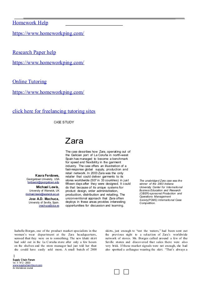 zara case study questions and answers