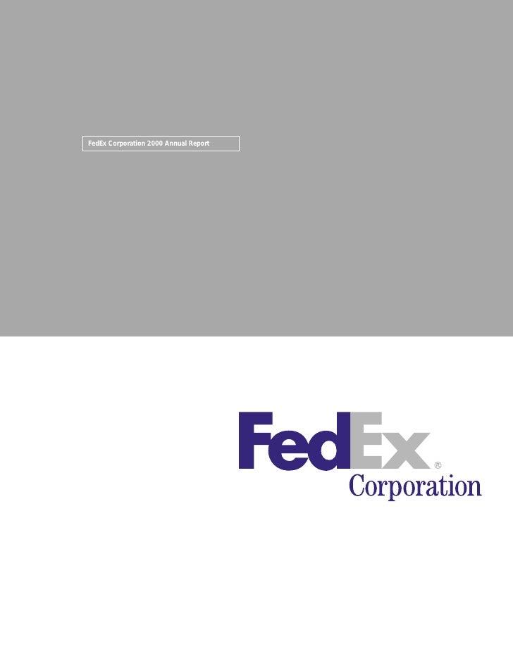 fedex Annual Reports 2000