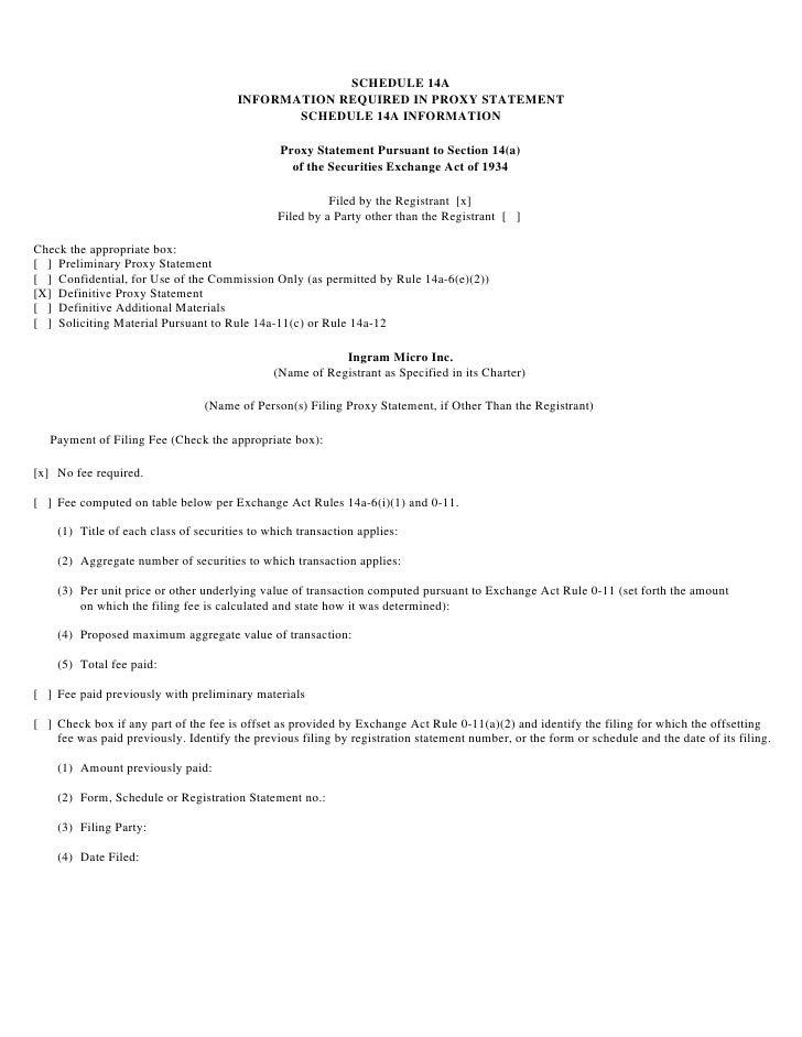 ingram micro Proxy Statement 2002