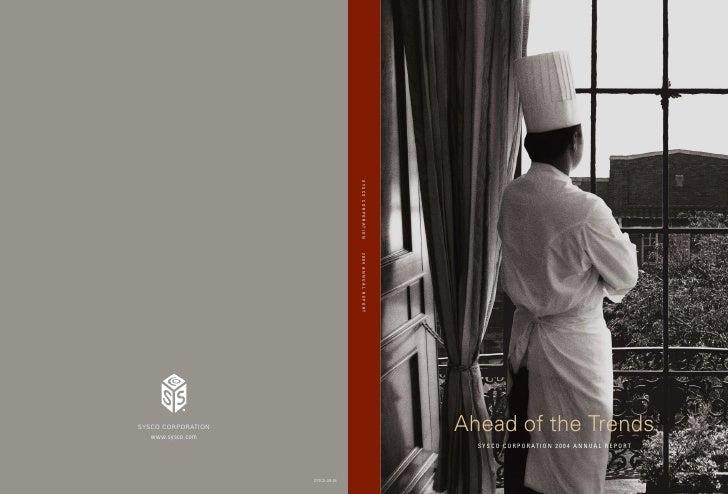 sysco Annual Reports2004