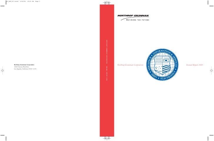 northrop grumman Annual Report 2005