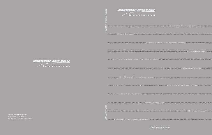 northrop grumman Annual Report 2004