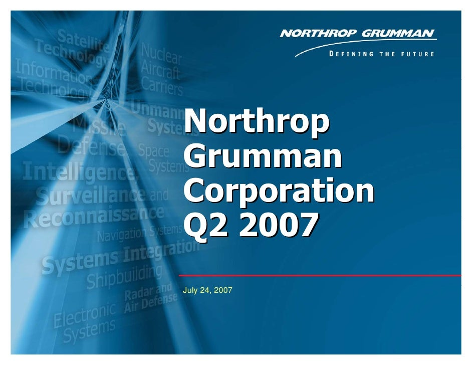 northrop grumman  Slide Presentation 2007 2007 2nd