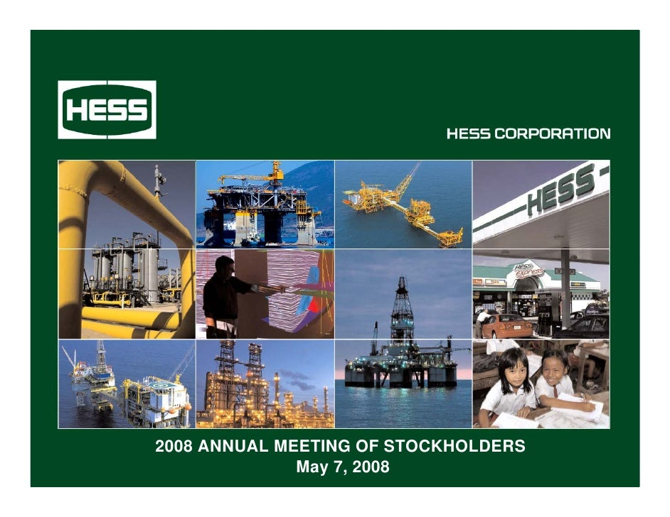 2008 ANNUAL MEETING OF STOCKHOLDERS               May 7, 2008