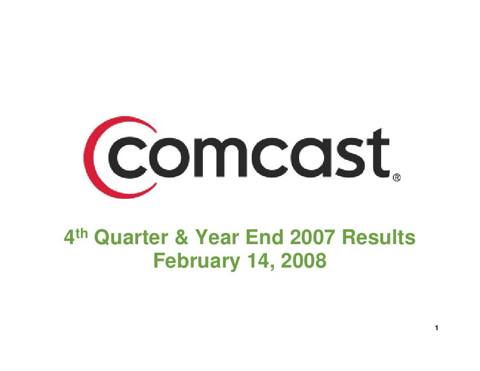 4th Quarter & Year End 2007 Results          February 14, 2008                                         1