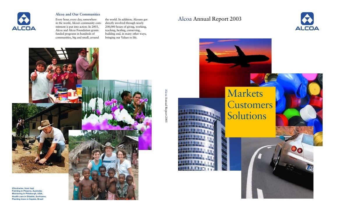alcoa Annual Reports 2003