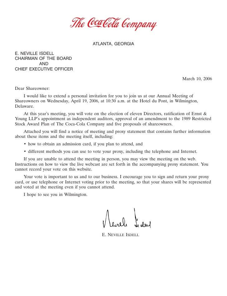 20FEB200406462039                                           ATLANTA, GEORGIA  E. NEVILLE ISDELL CHAIRMAN OF THE BOARD     ...