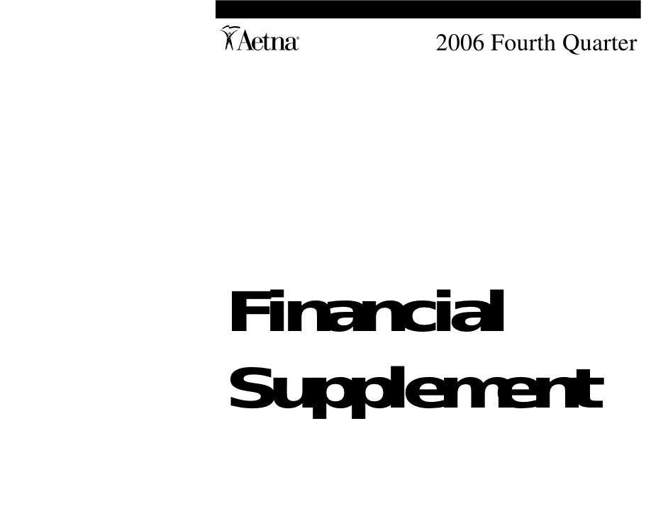 aetna Download Documentation	Financial Supplement2006 4th