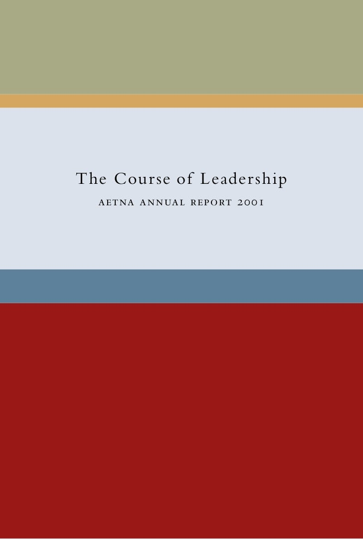 aetna 2001 Annual Report