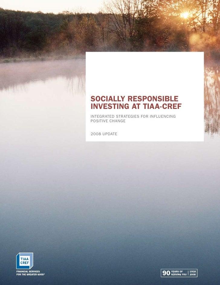 Socially Responsible Investing at TIAA-CREF