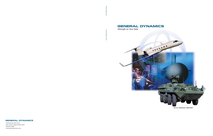 general dynamics Annual Reports 2003