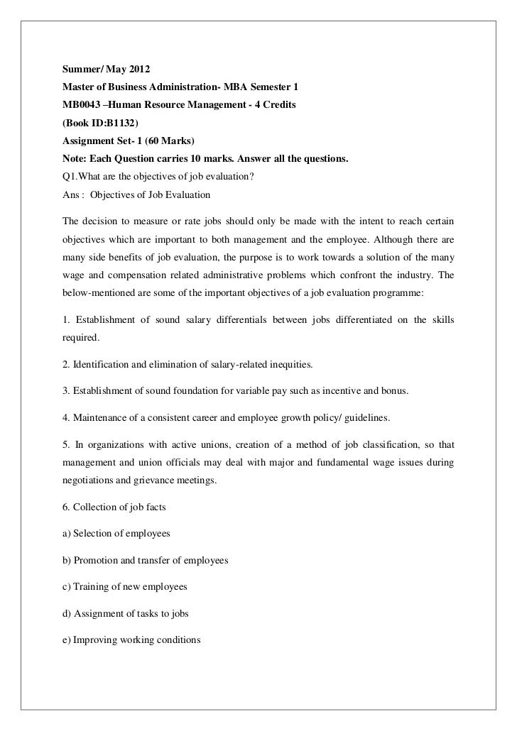 104774162 mb0043-mb0043-–human-resource-management-november-2012