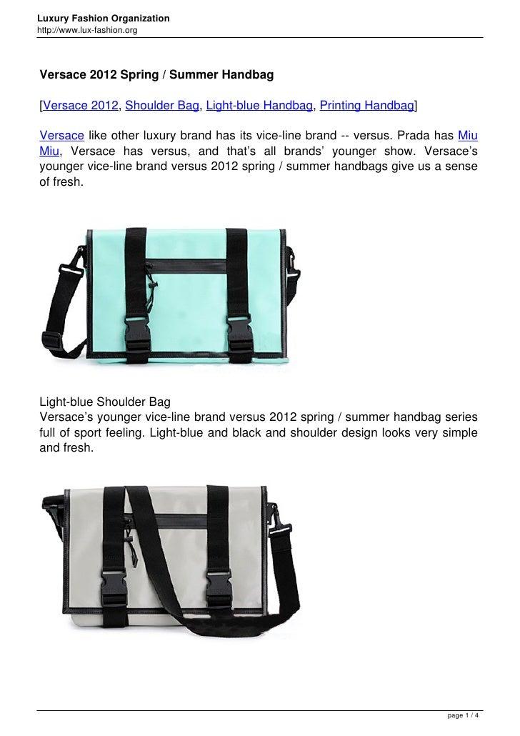 Versace 2012 Spring / Summer Handbag