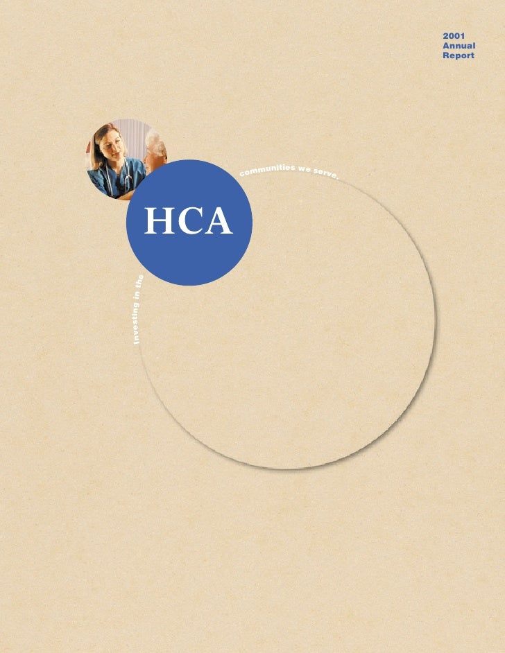 hca annual reports2001