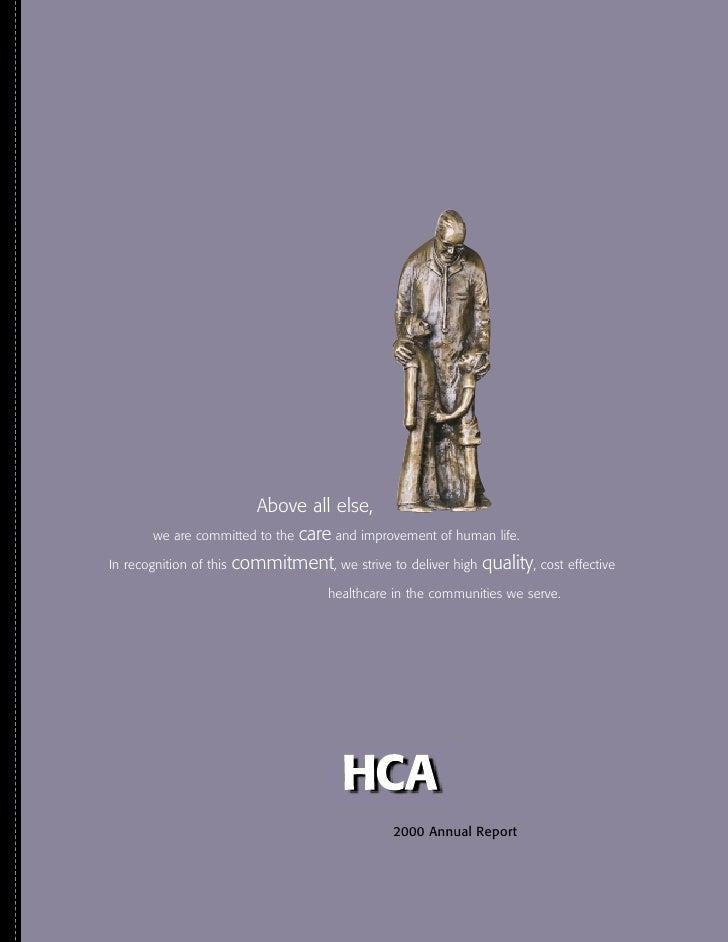 hca annual reports2000