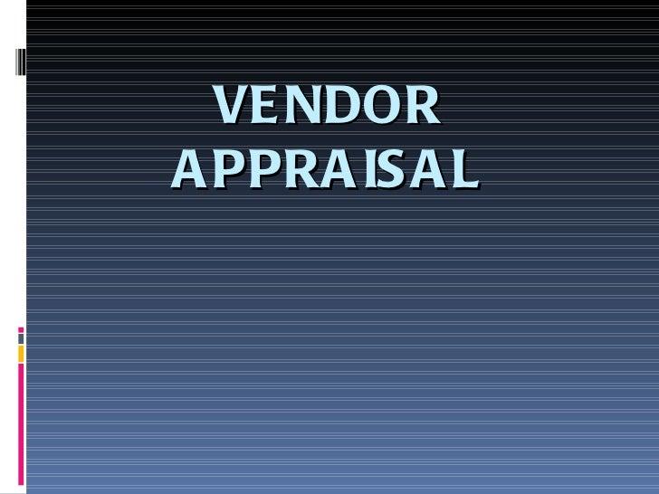 104vendor appraisal