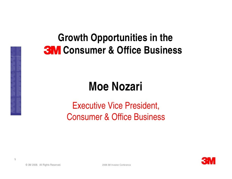 Growth Opportunities in the                                  Consumer & Office Business                                   ...