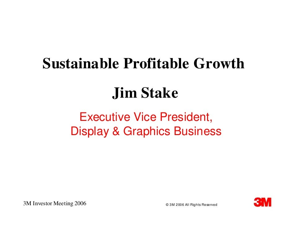 James B. Stake Executive Vice President, Display and Graphics Business