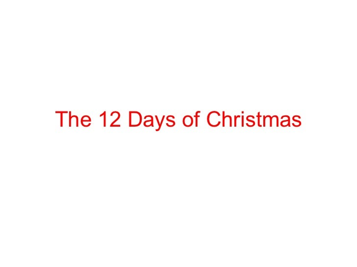 The 12 days of Christmass