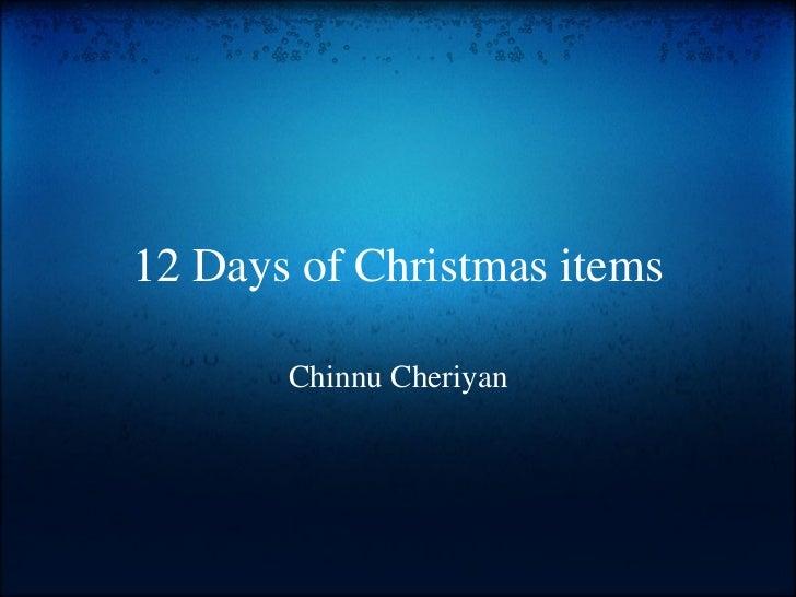 12 Days of Christmas Slideshow