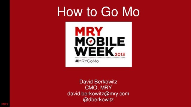"Mentor Presentation: How to Bring a ""Mobile Week"" to Your Agency"