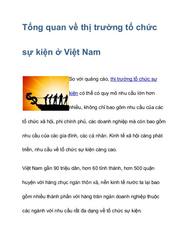 Tổng quan thị trường tổ chức sự kiện ở Việt Nam