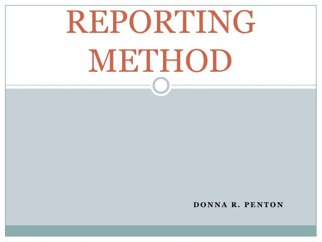 Dialectic Teaching Approach: Reporting Method