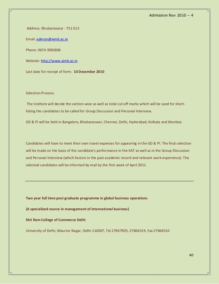 Admission Nov 2010 - 4