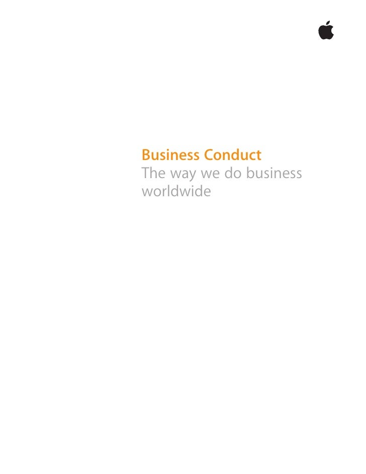 apple Business Conduct Policy (Updated 1/08)