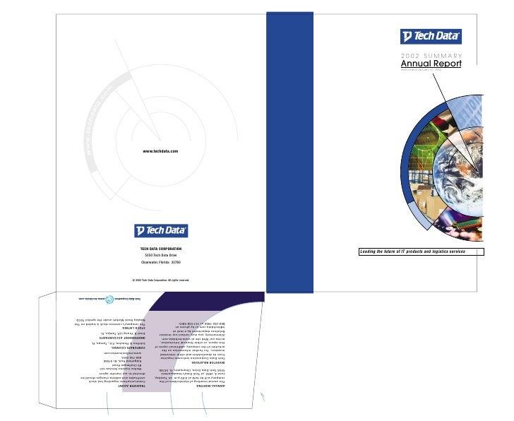 tech data  Annual report 2002