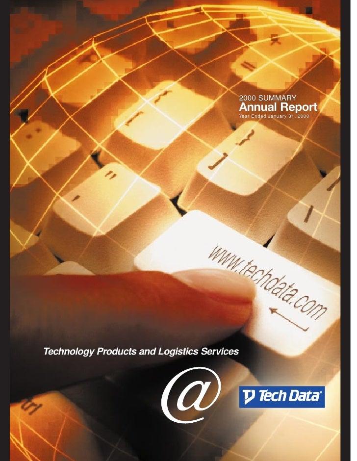 tech data  Annual report 2000