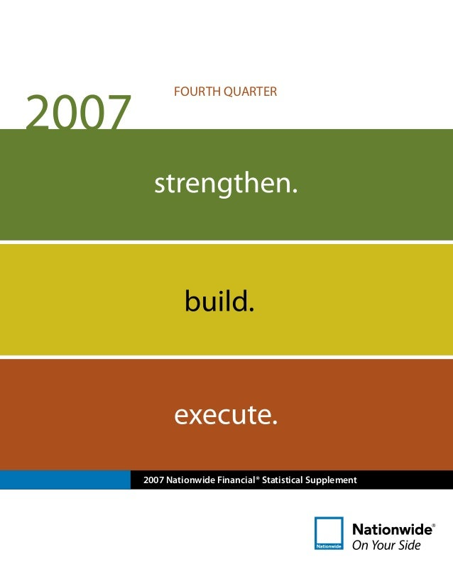 2007 Nationwide Financial® Statistical Supplement FOURTH QUARTER
