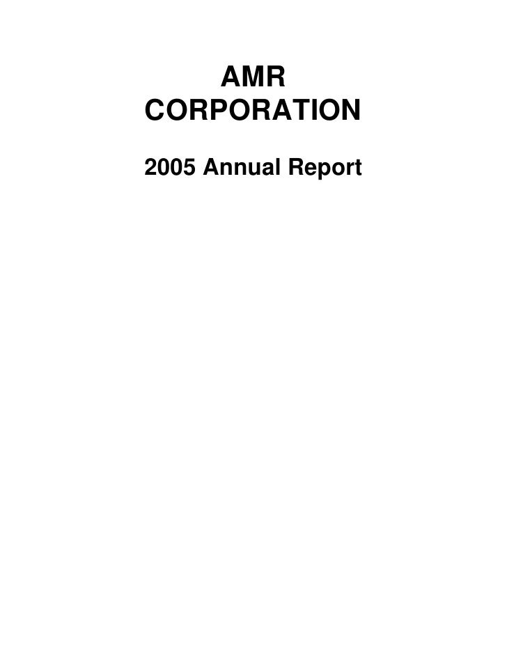 AMR Annual Report 2005