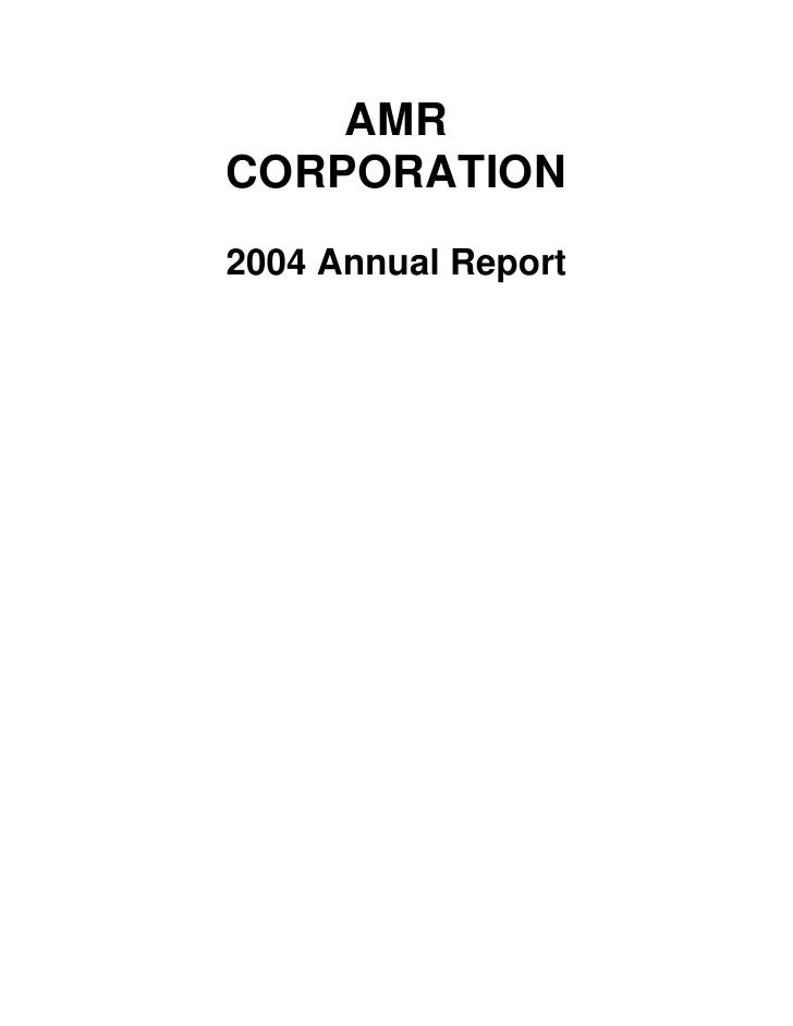 AMR Annual Report 2004