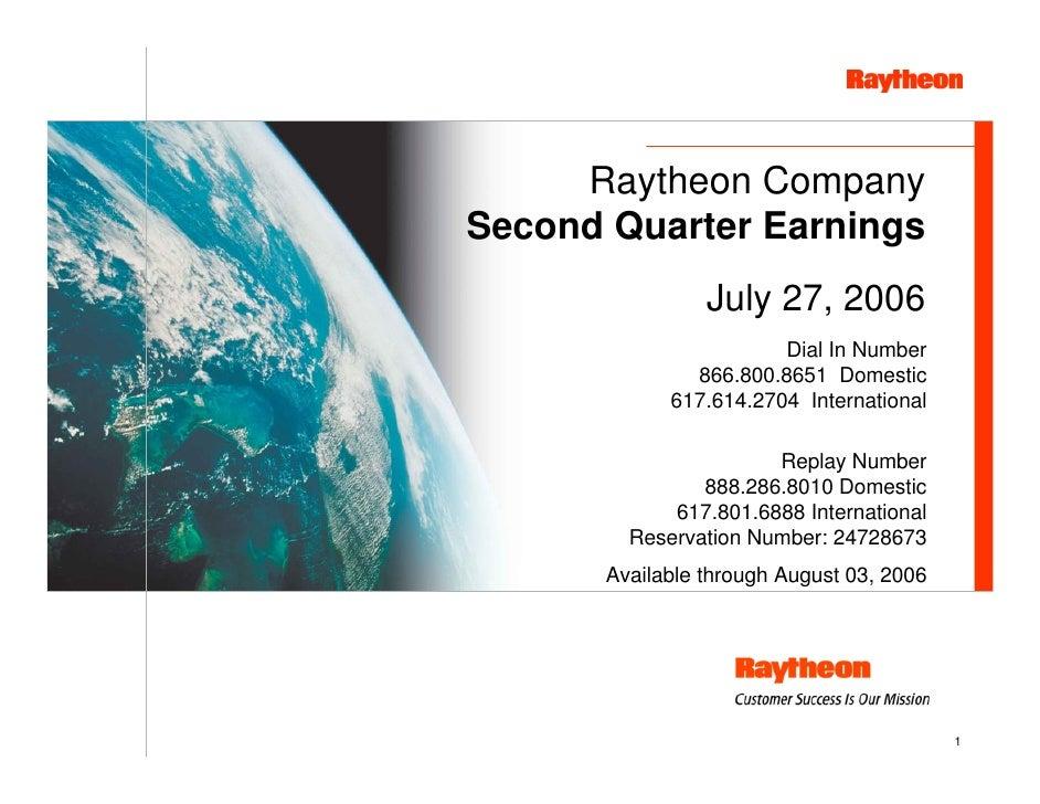 raytheon Q2 Earnings Presentation