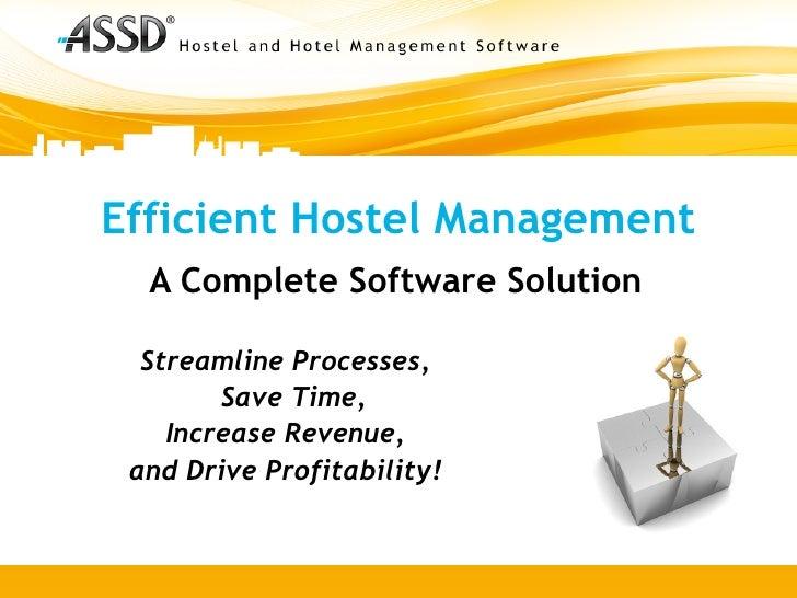 Efficient Hostel Management with ASSD