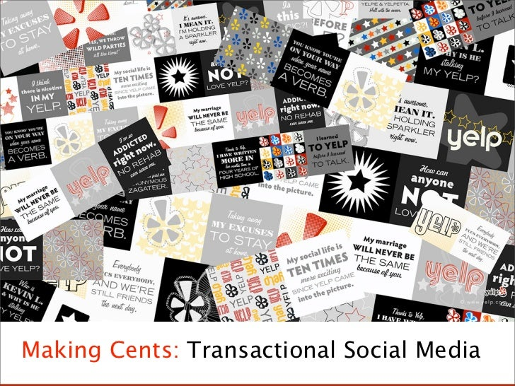 Making Cents of Transactional Social Media